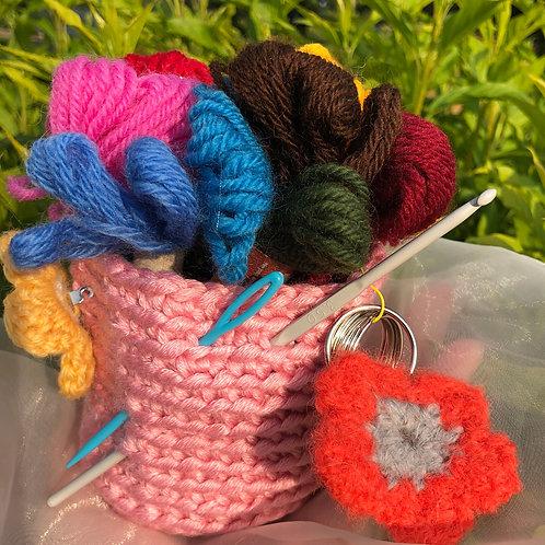 Funky Flowers CROCHET KIT