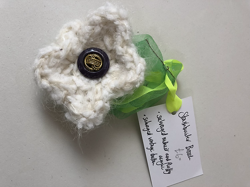 Cream and White Stashbuster Brooch