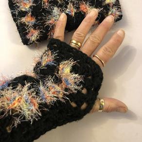 Granny Square Wrist Warmers