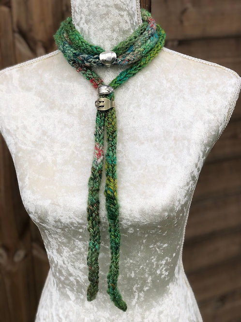 Traditional Tree NECKWRAP with Bespoke Upcycled Scarf Ring
