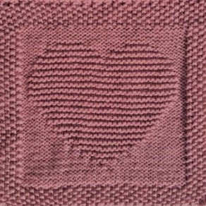 Knitted Heart Wall Art