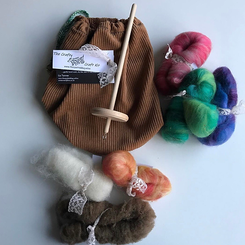Crafty Dog Drop Spindle SPINNING KIT