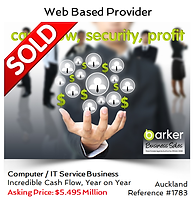 Computer IT Service company sold by Alan Dufty top Business Broker Auckland