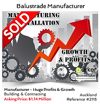 Building and Contracting Manufacturering business sold by Alan Dufty, Business Broker Auckland