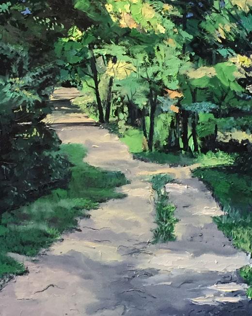 Greenway Farm Path, trees green