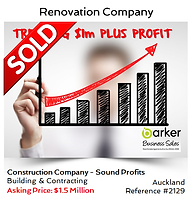 Construction company sold by Alan Dufty, Business Broker Auckland