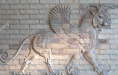 babylonian-lion-high-relief-sumerian-and