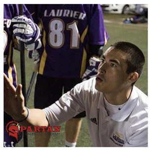 Coach Leo Coaching at Wilfrid Laurier University in 2017