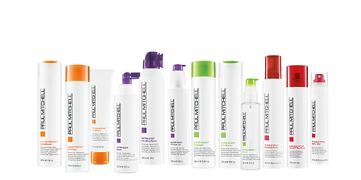 Black and White Paul Mitchell produkter.