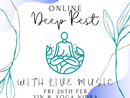 Yin & Yoga Nidra With Live Music