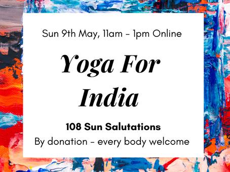 Yoga For India: 108 Sun Salutations