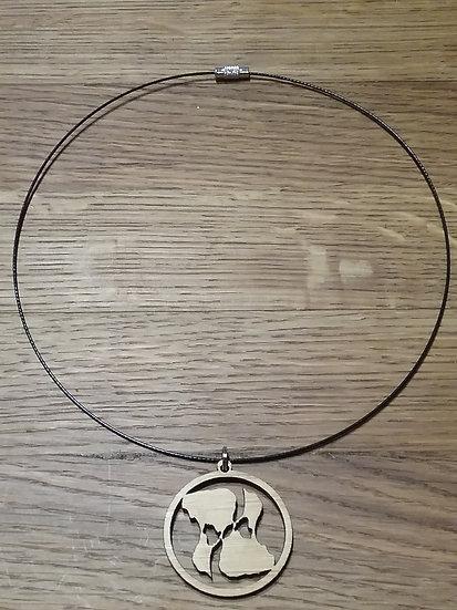 BI Yin Yang Bamboo Choker Necklace