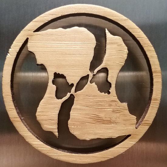 BI Yin Yang Bamboo Magnet