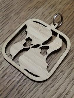 BI Yin Yang Bamboo Key Chain