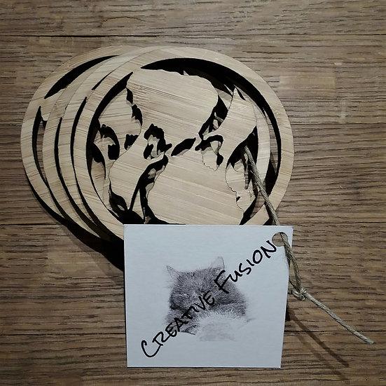 BI Yin Yang Bamboo Coaster