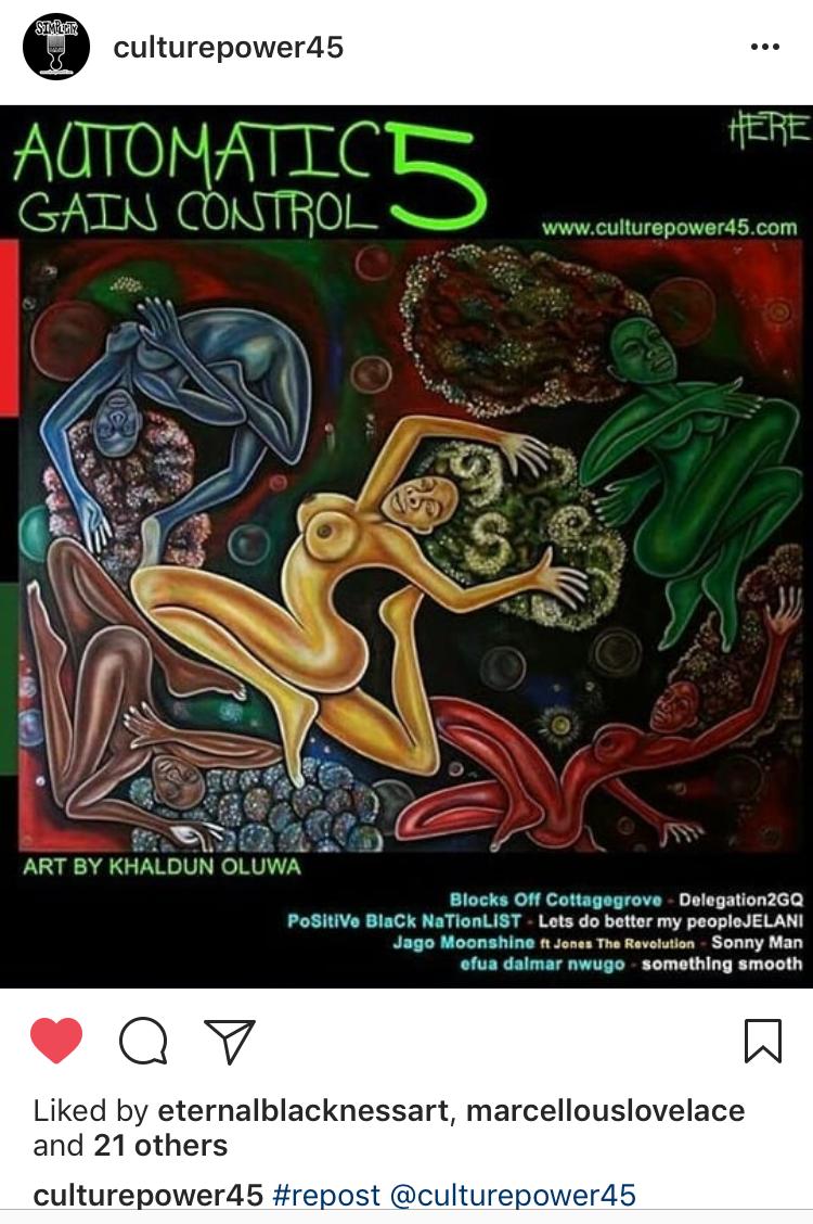 Automatic Gain Control 5 @culturepower45 Instagram album cover art by Khaldun Oluwa