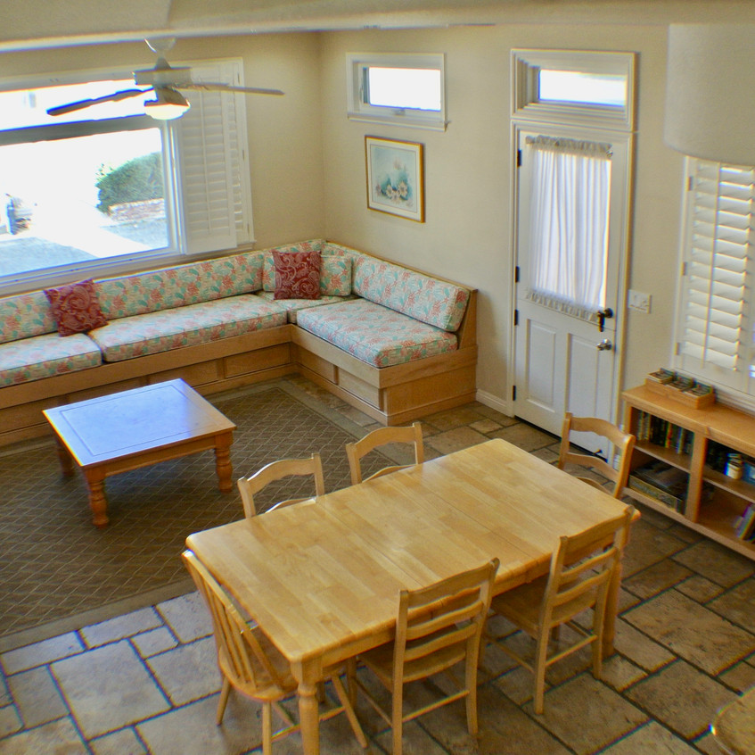 Living and dining room aerial view
