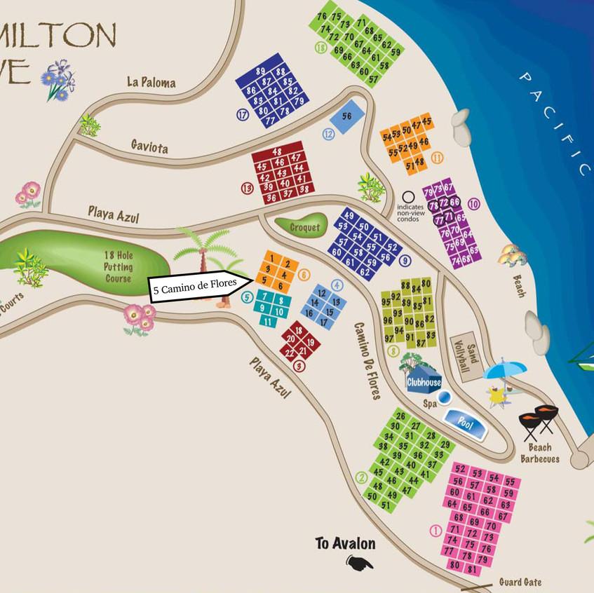 Location on Hamilton Cove Map