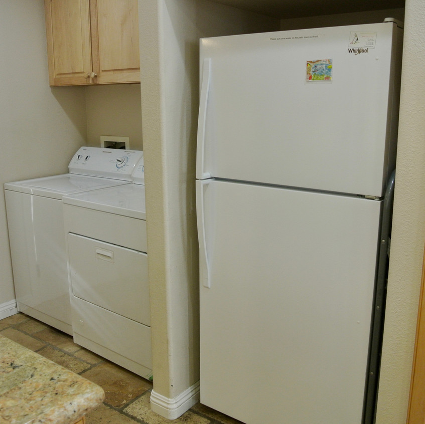 Refrigerator and laundry area