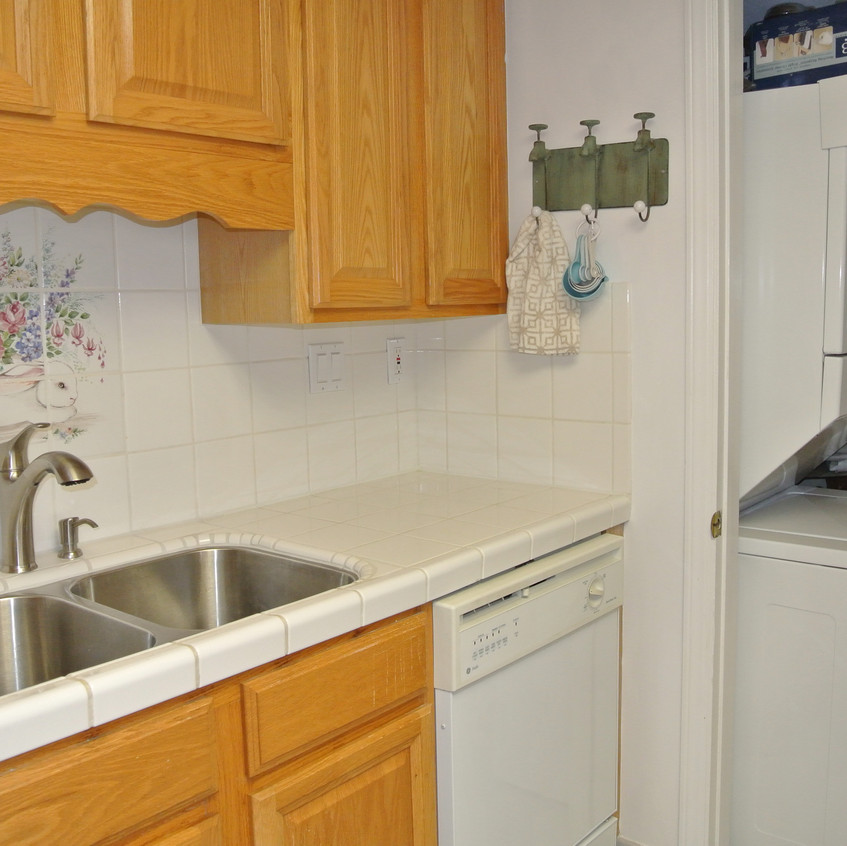 Kitchen sink and laundy closet