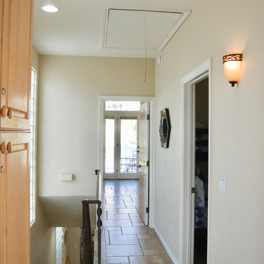 Hallway to master from bathroom #2
