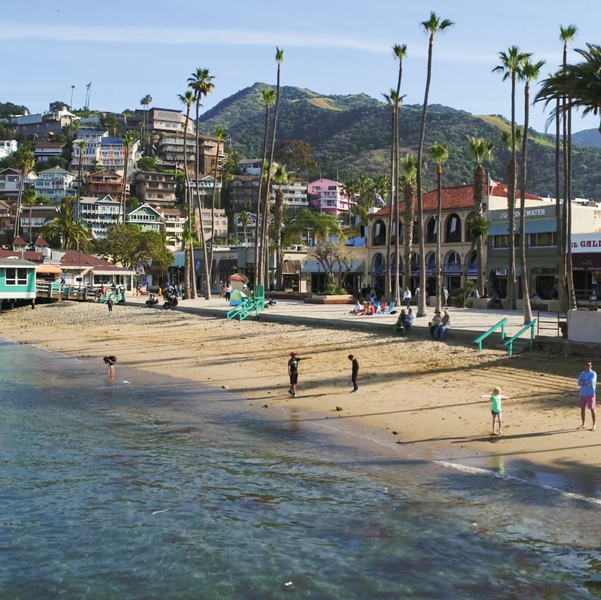 "Avalon's ""Middle Beach"" in Harbor"