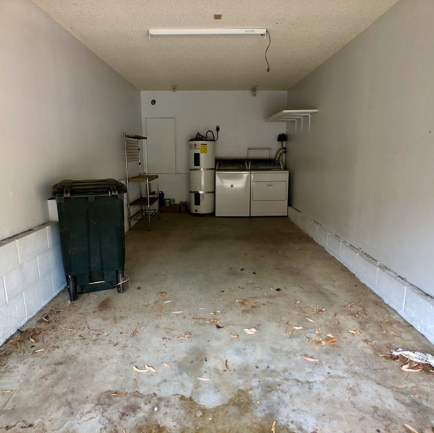 Attached garage with washer & dyer