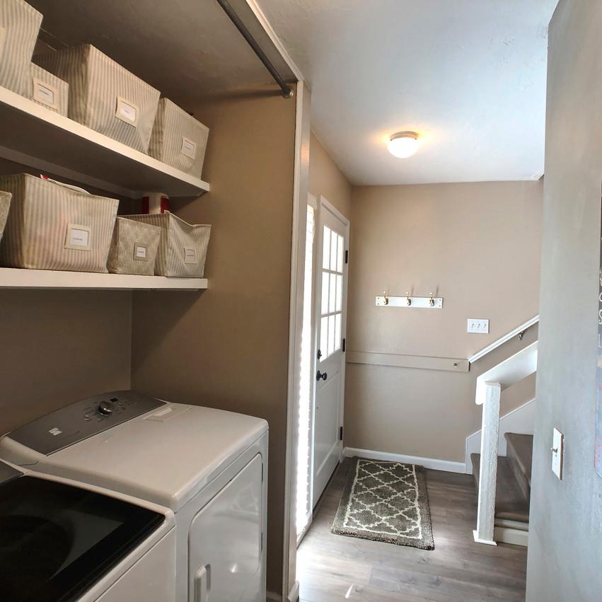 Laundry area, entryway