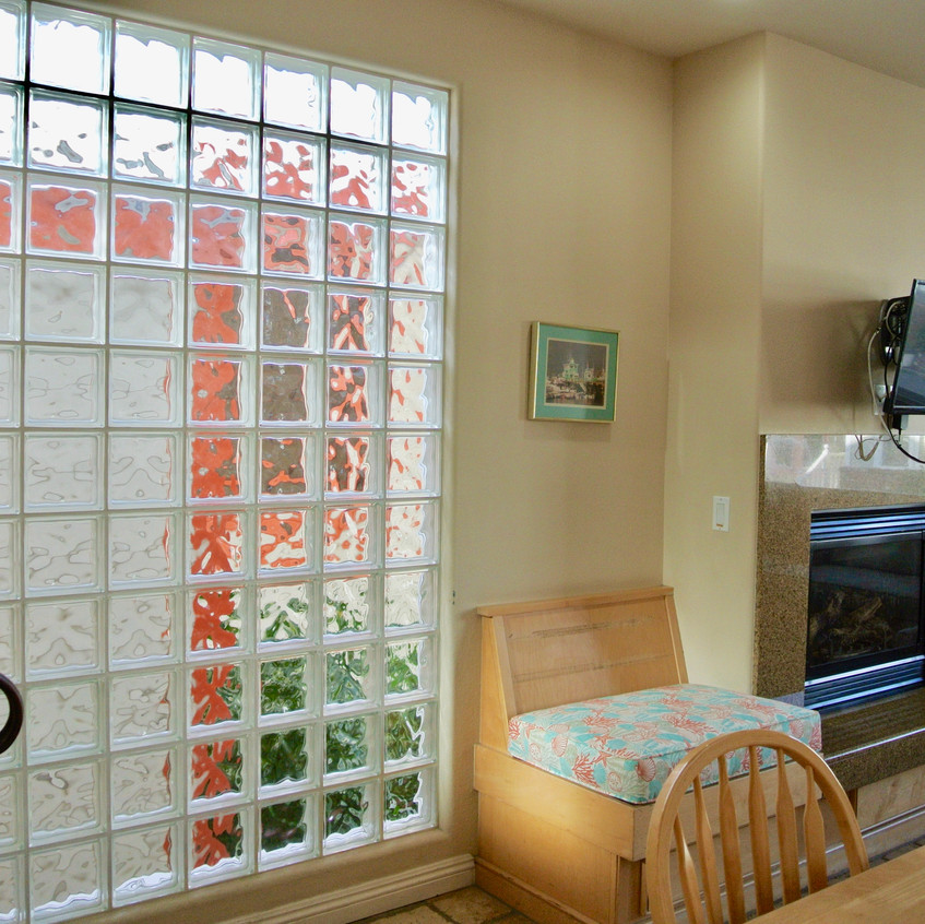 Glass block privacy windows