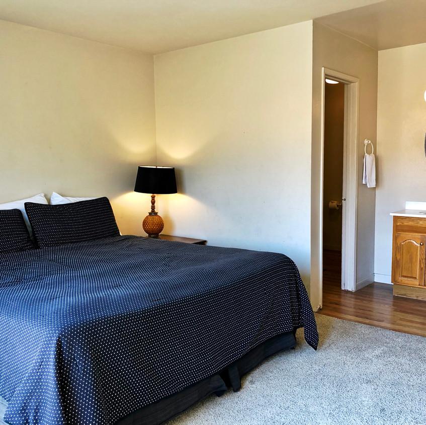 Master bedroom toward bath