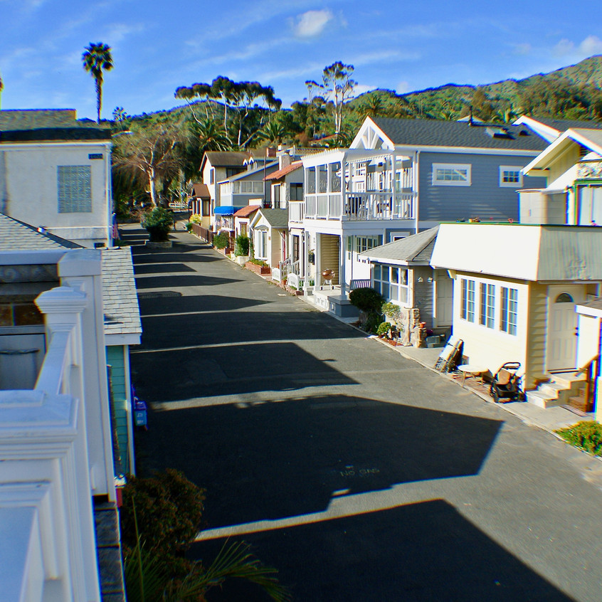 View of Eucalyptus Ave from balcony