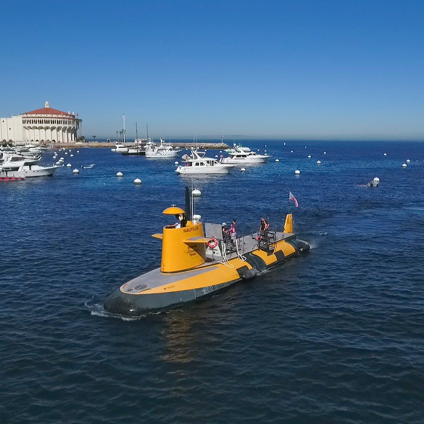 Semi-submersible in Avalon Harbor