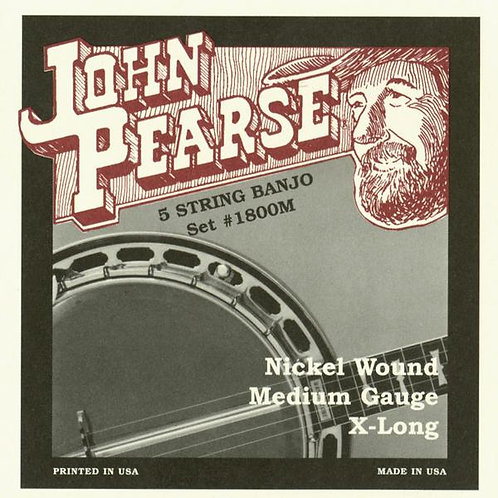 John Pearse 5 String Banjo - Extra Long