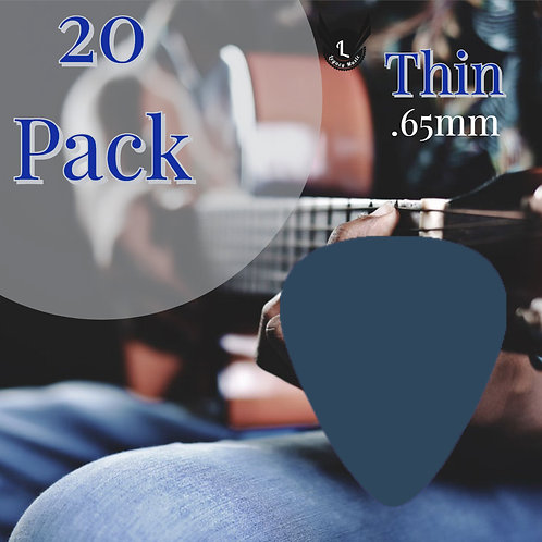 Navy Blue Guitar Picks 20 Pack