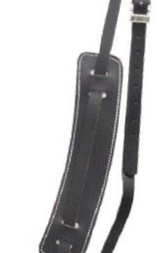 Fender Black Vintage Leather, Silver Logo