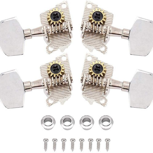 Performer Ukulele 4 pc Set, Nickel Plated, ABS Buttons