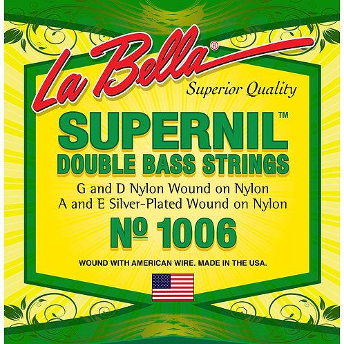 La Bella Double Bass Supernil Set, Nylon Core