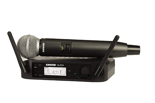 Shure GLXD24/SM58 Digital Vocal Wireless System with SM58 Handheld Microphone, Z