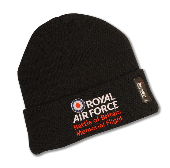 Memorial Flight Woolly Hat (White/Red Text Logo)