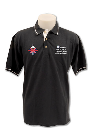 Typhoon Team Mens Navy Polo Shirt - Red, White and Blue