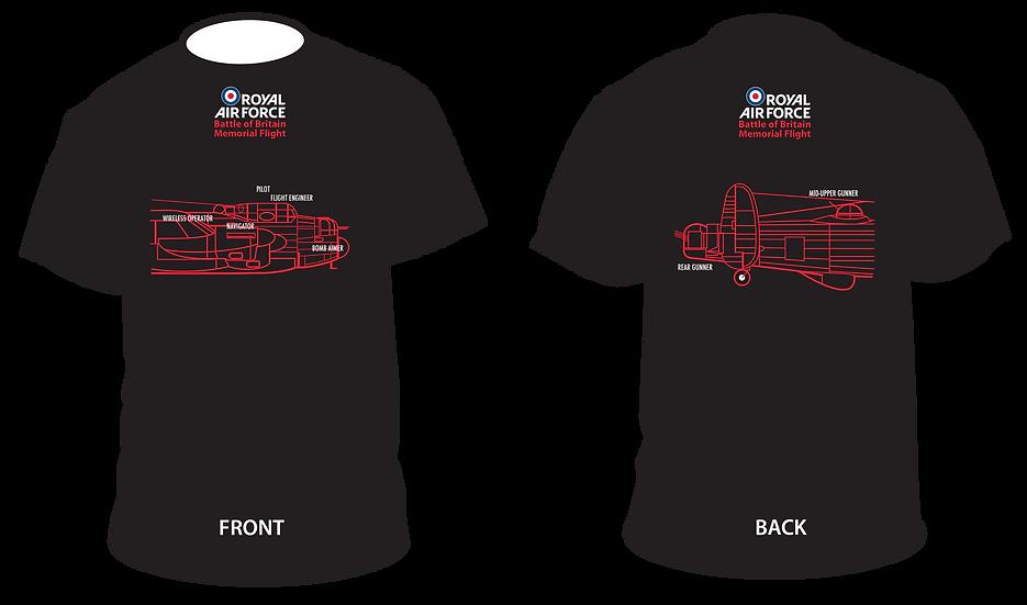 BBMF Lancaster Crew Profile T-Shirt Ladies (Slim Fit)