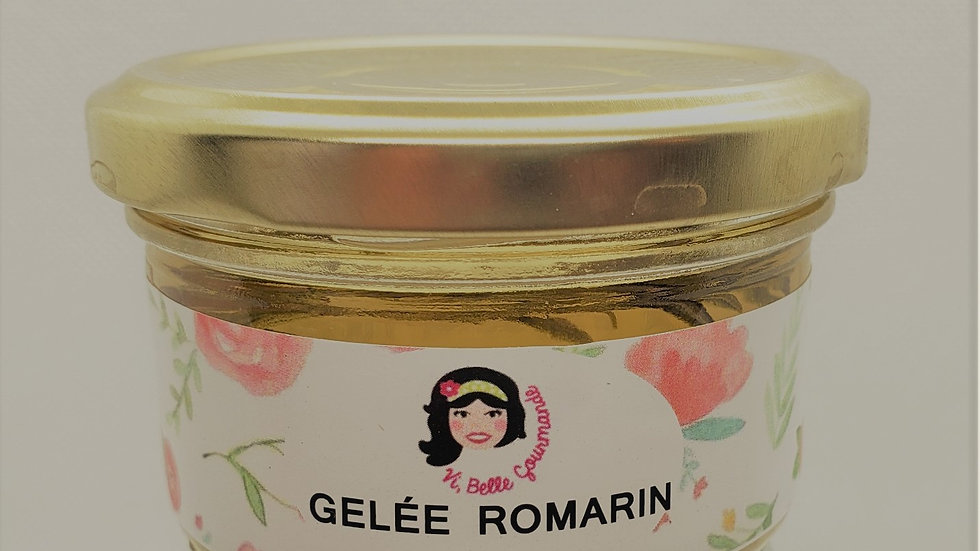 Gelée vin blanc romarin