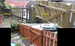 Garden fence rebuild