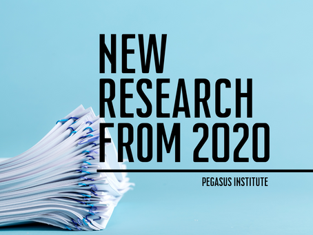 A Look Back at Pegasus Institute's 2020 Original Research