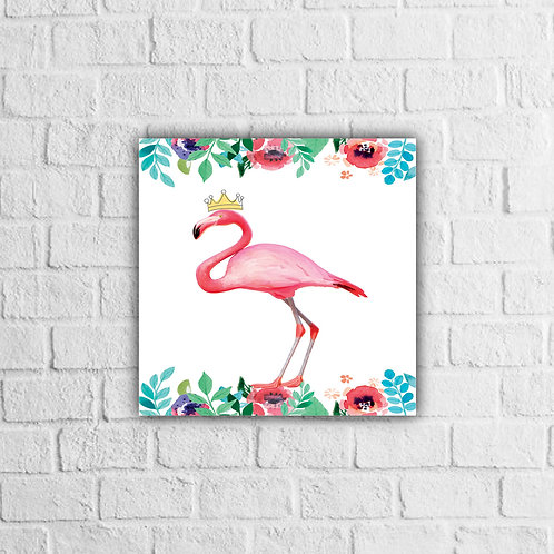 Placa Decorativa Flamingo