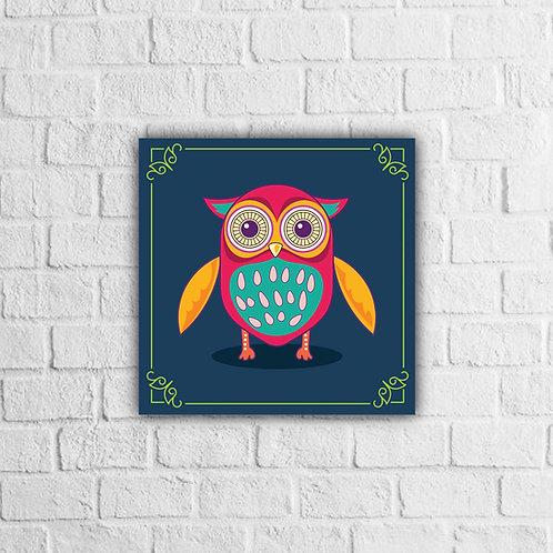Placa Decorativa Coruja