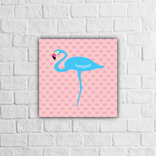 Placa Decorativa Flamingo