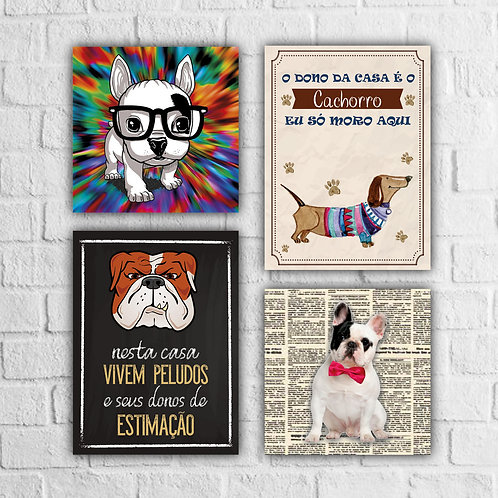 Kit Placas Decorativas Cachorros - A partir de