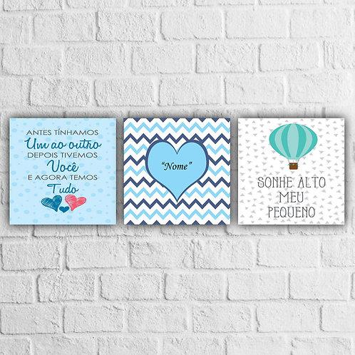 Kit Placas Decorativas Personalizável