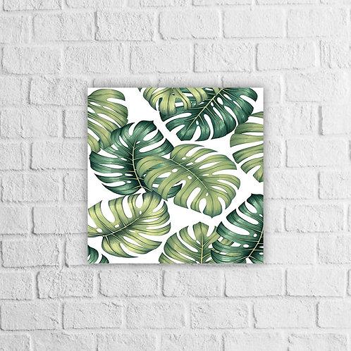 Placa Decorativa Floral